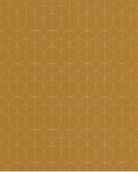 Papier peint géométrique Casadeco 1930 Reflet Jaune MNCT85692323