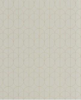 Papier peint géométrique Casadeco 1930 Reflet Vert amande MNCT85697119