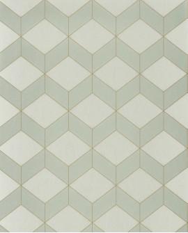 Papier peint géométrique Casadeco 1930 Metro Vert amande MNCT85687101