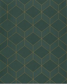 Papier peint géométrique Casadeco 1930 Metro Vert MNCT85687517