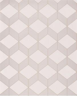 Papier peint géométrique Casadeco 1930 Metro Taupe MNCT85681212