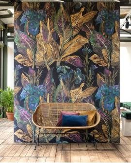 Panoramique tropical Botanica Casadeco Iris Jaune BOTA85952367