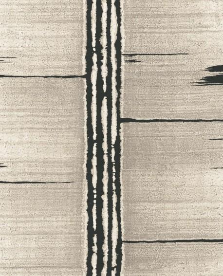 Papier peint Lutece Bamako Ecorce Taupe et noir G78285