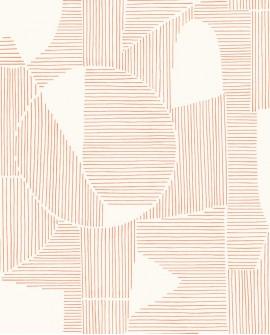 Papier peint géométrique Gallery Graphique Corail GLRY86124114