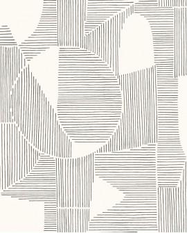 Papier peint géométrique Gallery Graphique Noir GLRY86129127