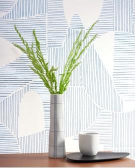 Papier peint géométrique Gallery Graphique Taupe GLRY86121105