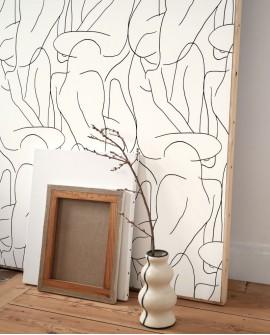 Papier peint graphique Gallery Academie Beige et blanc GLRY86101108
