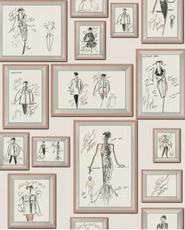 Papier peint contemporain Montecollino Karl Lagerfeld Claudia Rose 378464