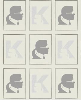 Papier peint géométrique Montecollino Karl Lagerfeld Baptiste Beige 378422