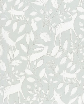 Papier peint enfant collection Lalala Petit cerf gris LAL794