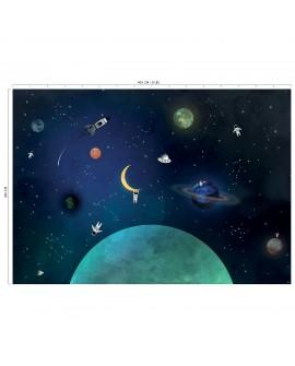 Panoramique enfant collection Lalala Dans l'espace LAL438DI