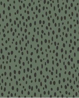 Papier peint pois collection Forest Friends Petits points Vert 139258