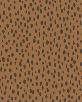 Papier peint pois collection Forest Friends Petits points Camel 139257
