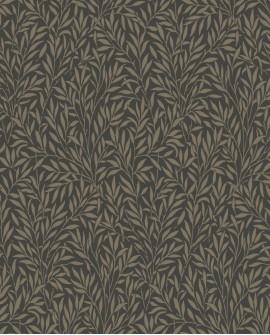 Papier peint floral Arts & Crafts Casadeco Willow Noir ARCR86359501