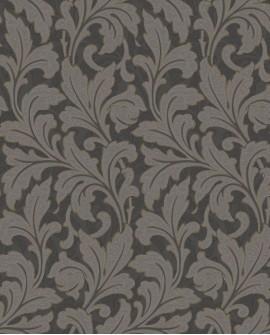 Papier peint floral Arts & Crafts Casadeco Acanthe Noir ARCR86369515