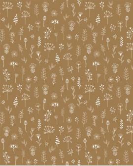 Papier peint scandinave Forest Friends Petits feuillages Camel 139281