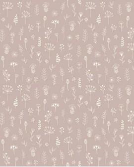 Papier peint scandinave Forest Friends Petits feuillages rose 139280