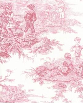 Tissu Thevenon Toile de Jouy Histoire d'Eau bordeaux