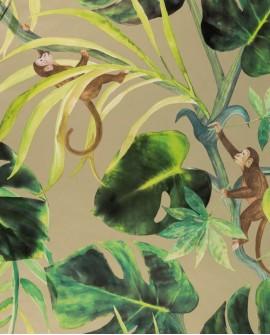 Papier peint Clarke & Clarke Monkey Business Gilver W0083/02
