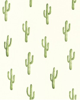 Papier peint Rasch Greenhouse Cactus vert jungle 138899
