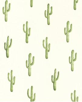 Papier peint Rasch Greenhouse Cactus vert jungle 138899