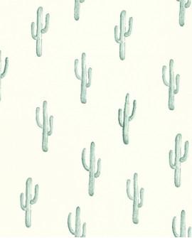 Papier peint Rasch Greenhouse Cactus vert turquoise 138898