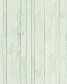 Papier peint Rasch Greenhouse Planches vintage Turquoise grisé 128837