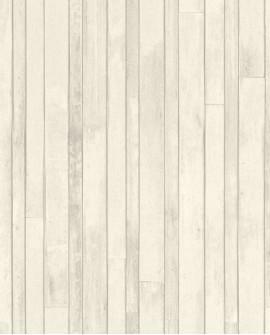 Papier peint Rasch Greenhouse Planches vintage Gris chaud 128836