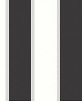 Papier peint Jeux de Rayures 2 Rayure noir et blanc G67543