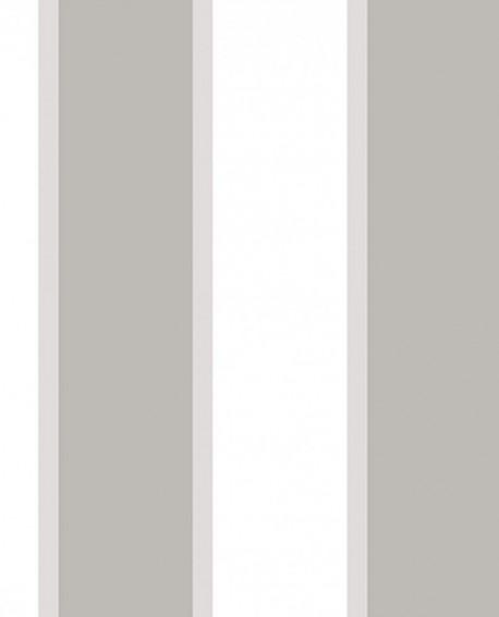 Papier peint Jeux de Rayures 2 Rayure Gris et blanc G67552