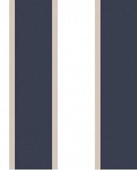 Papier peint Jeux de Rayures 2 Rayure Bleu marine et blanc G67550