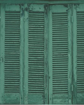 Papier peint Rasch Greenhouse Persiennes anciennes vert 138885