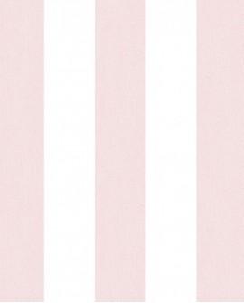 Papier peint Lutèce Jeux de Rayures 2 Rayure rose et blanc G67585