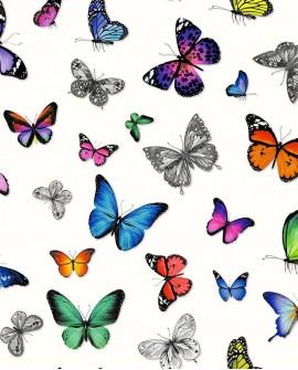 Papier peint Esta Home Greenhouse Papillons voletant multicolore 138507