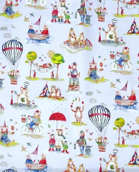 Tissu Prestigious Textiles Little Bear Sky Bleu 8631/780